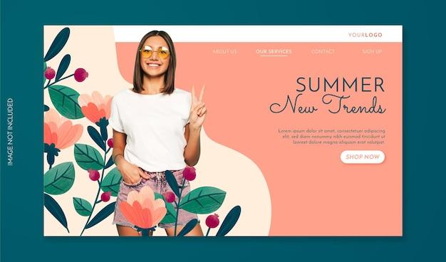 Bannière de vente d'été dessinée à la main