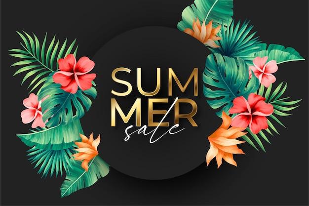 Bannière de vente d'été élégante