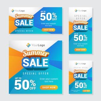 Bannière de vente d'été moderne