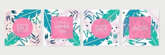 Bannière de vente d'été pour publication sur les médias sociaux