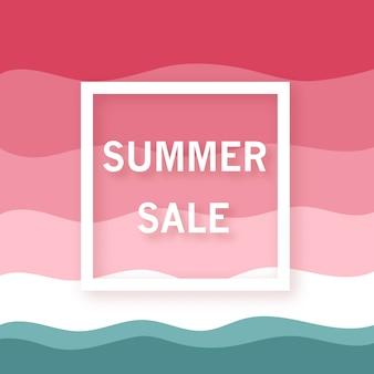 Bannière de vente d'été.