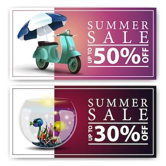 Bannière de vente d'été
