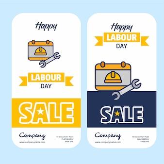 Bannière de vente de la fête du travail
