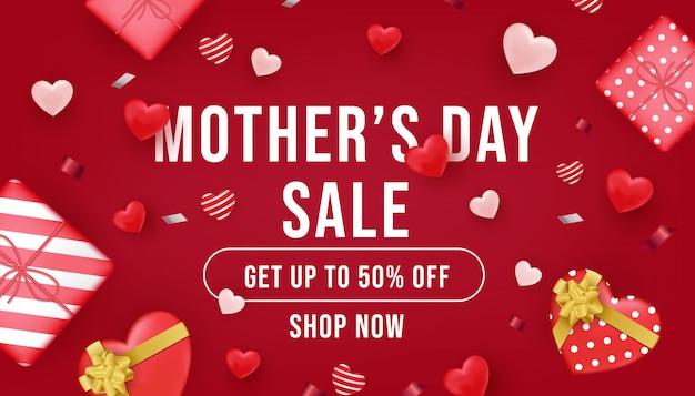 Bannière de vente de fête des mères
