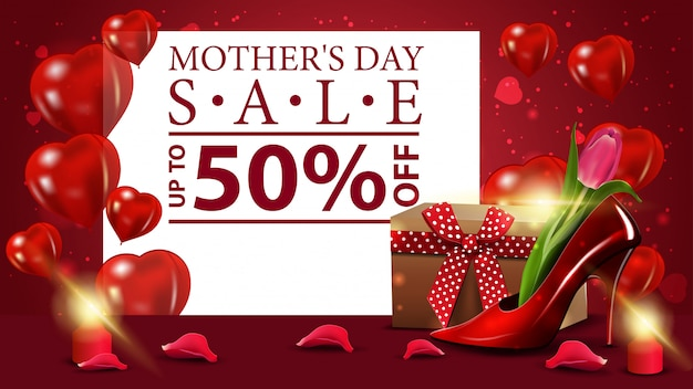 Bannière de vente fête des mères
