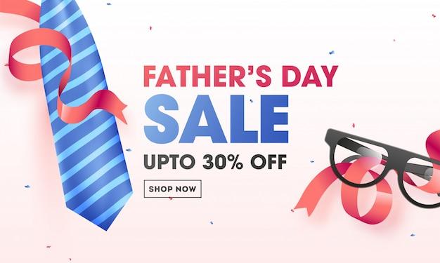 Bannière de vente fête des pères