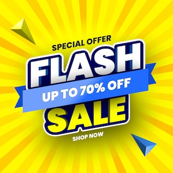 Bannière de vente flash offre spéciale