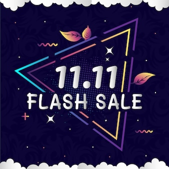 Bannière de vente flash set elements premium vector