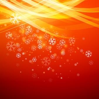 Bannière de vente fond de noël avec des flocons de neige