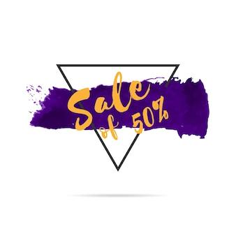 Bannière de vente grunge dessinés à la main pour la promotion.