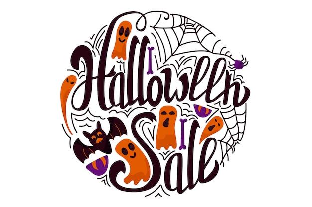 Bannière de vente halloween