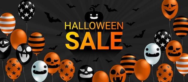 Bannière de vente d'halloween