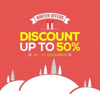 Bannière de vente d'hiver. illustration vectorielle