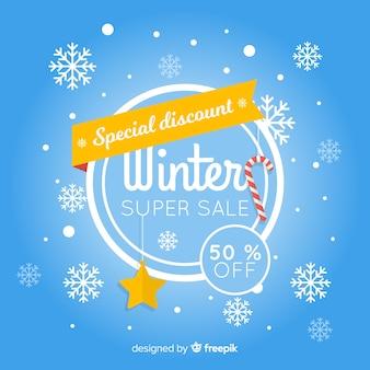Bannière de vente d'hiver