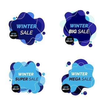 De bannière de vente d'hiver