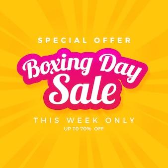 Bannière de vente le jour de la boxe