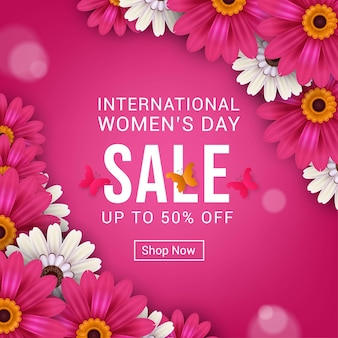 Bannière de vente de la journée internationale de la femme