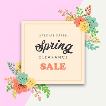 Bannière de vente de liquidation de printemps