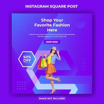 Bannière de vente de médias sociaux pour le web et instagram post