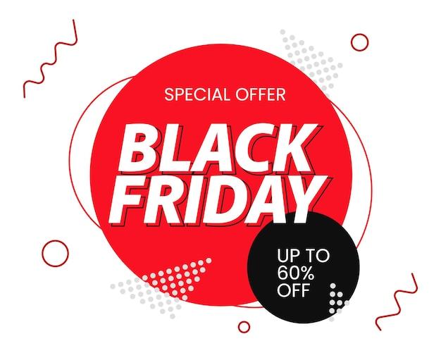 Bannière de vente minimaliste black friday