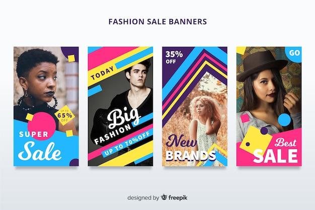 Bannière de vente de mode