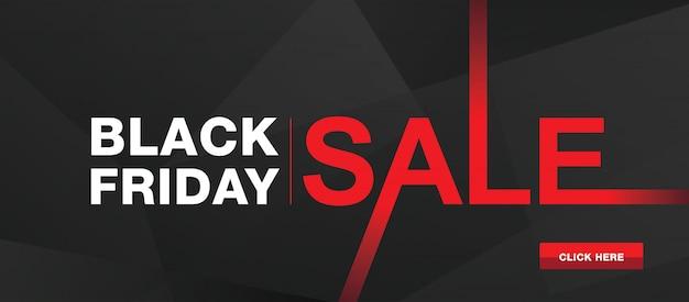 Bannière de vente moderne black friday