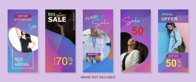 Bannière de vente moderne verticale pour web ou instagram