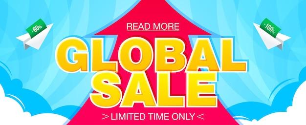 Bannière de vente mondiale