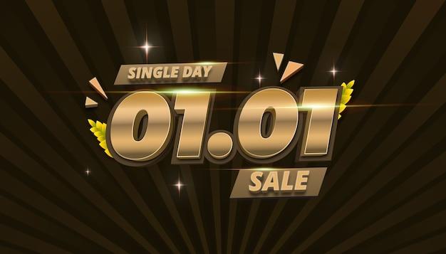 Bannière de vente offre spéciale singgle day