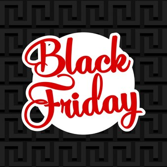 Bannière de vente offre spéciale vendredi noir.