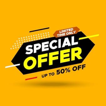 Bannière de vente offre spéciale