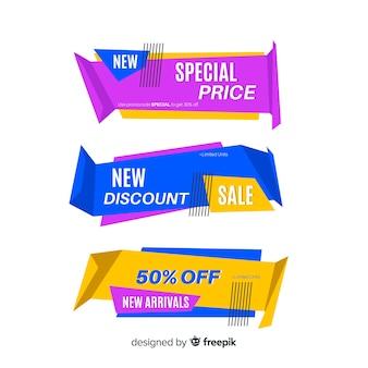 Bannière de vente en origami collectio