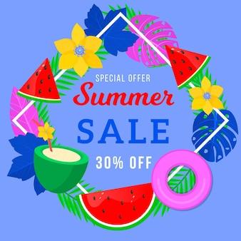 Bannière de vente pour l'été