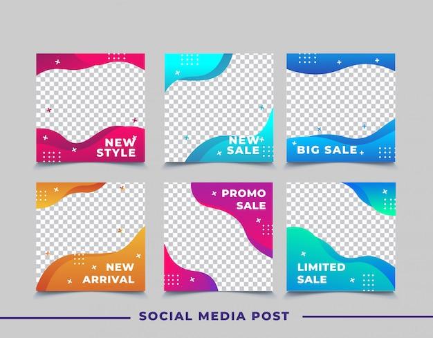 Bannière de vente pour le modèle de publication sur les médias sociaux