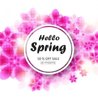 Bannière de vente de printemps pour boutique