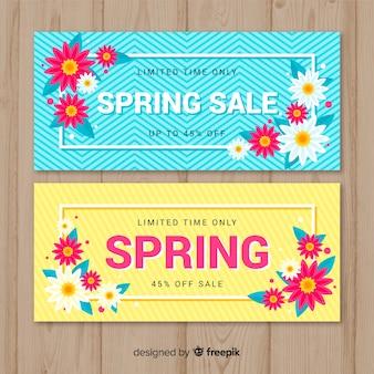 Bannière de vente de printemps