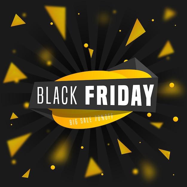 Bannière de vente promotionnelle moderne vendredi noir