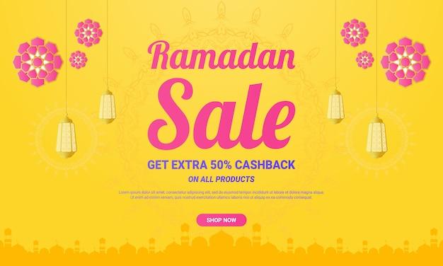 Bannière de vente ramadan