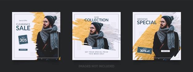 Bannière de vente spéciale ou modèle de publication instagram