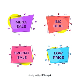 Bannière de vente style memphis