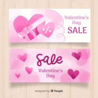 Bannière de vente valentine