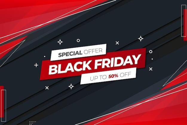 Bannière de vente vendredi noir avec conception de formes abstraites