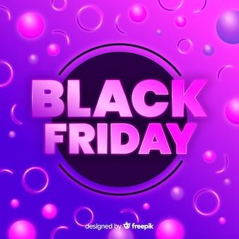 Bannière de vente vendredi noir dégradé