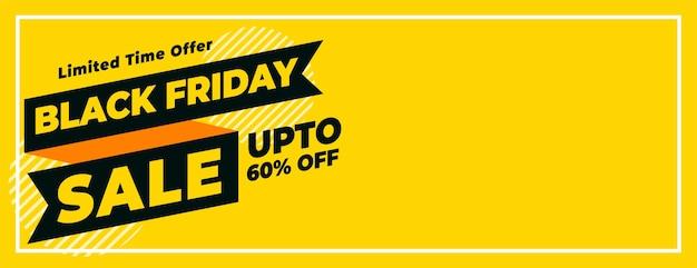 Bannière de vente vendredi noir avec détails de l'offre à durée limitée