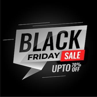 Bannière de vente vendredi noir avec détails de réduction