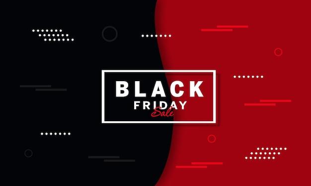 Bannière de vente vendredi noir avec des éléments géométriques blancs