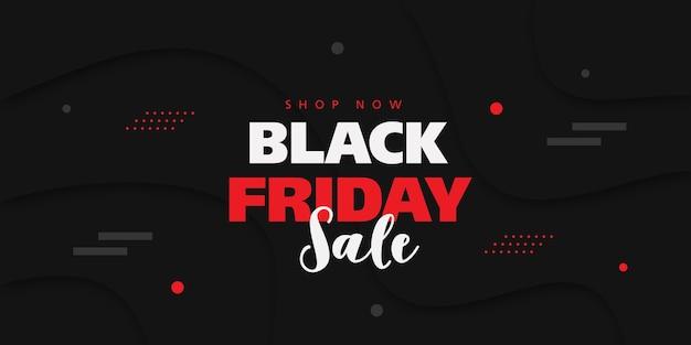 Bannière de vente vendredi noir avec fond dans un style 3d.