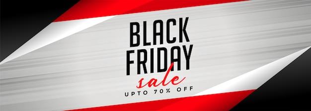 Bannière de vente vendredi noir géométrique élégant