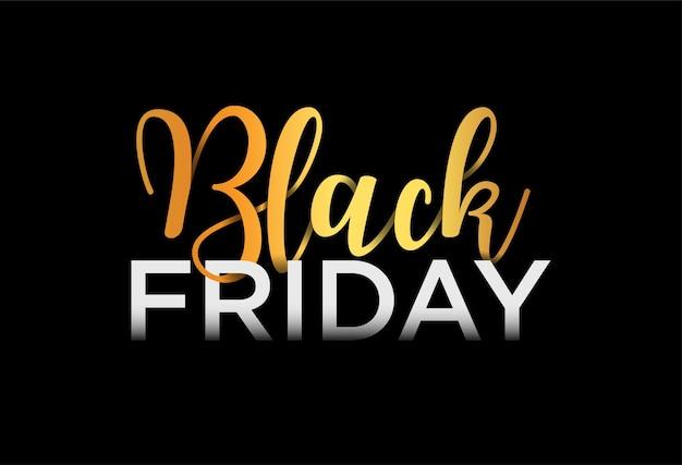 Bannière de vente vendredi noir, lettrage, illustration