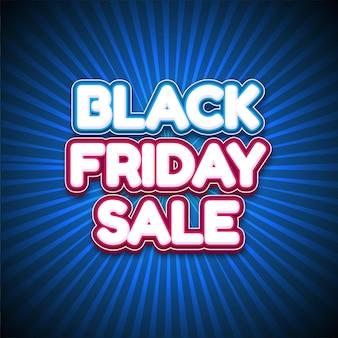 Bannière de vente vendredi noir moderne